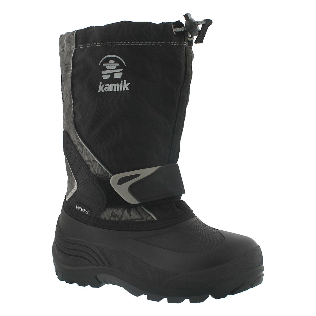 Bys Sleet2 blk/char pull on winter boot