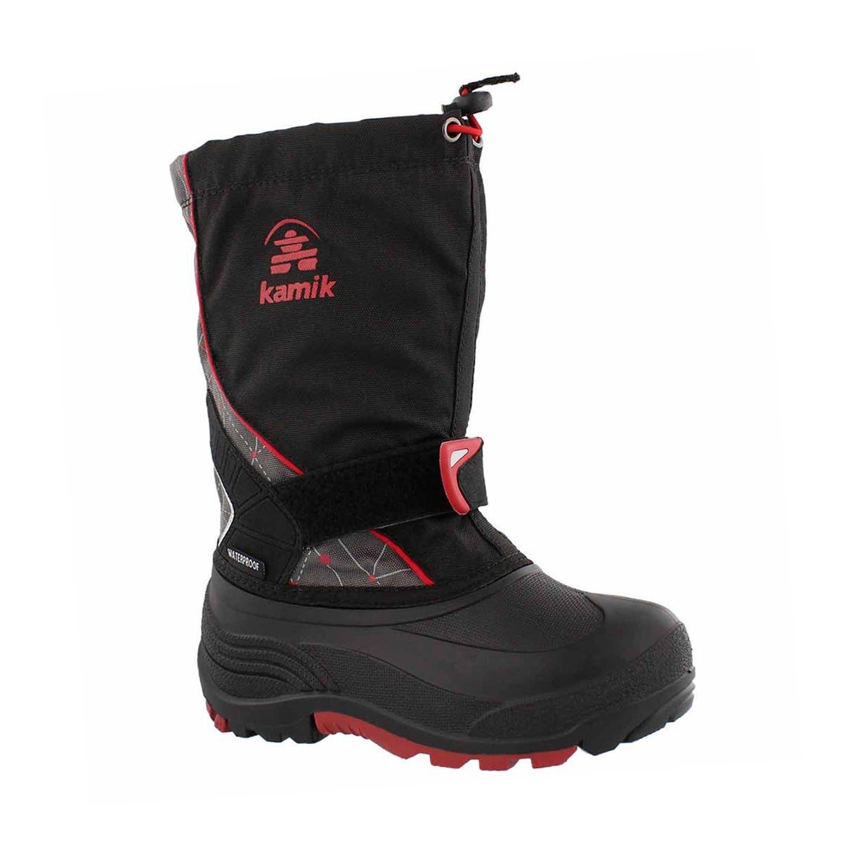 Boys' SLEET 2 black/red pull on winter boots