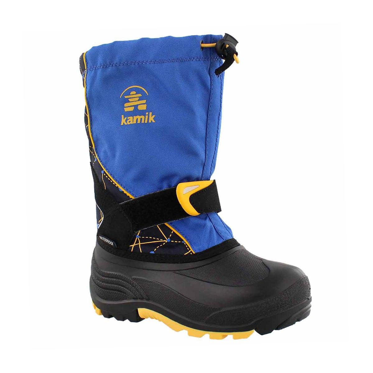 Boys' SLEET 2 blue/navy pull on winter boots