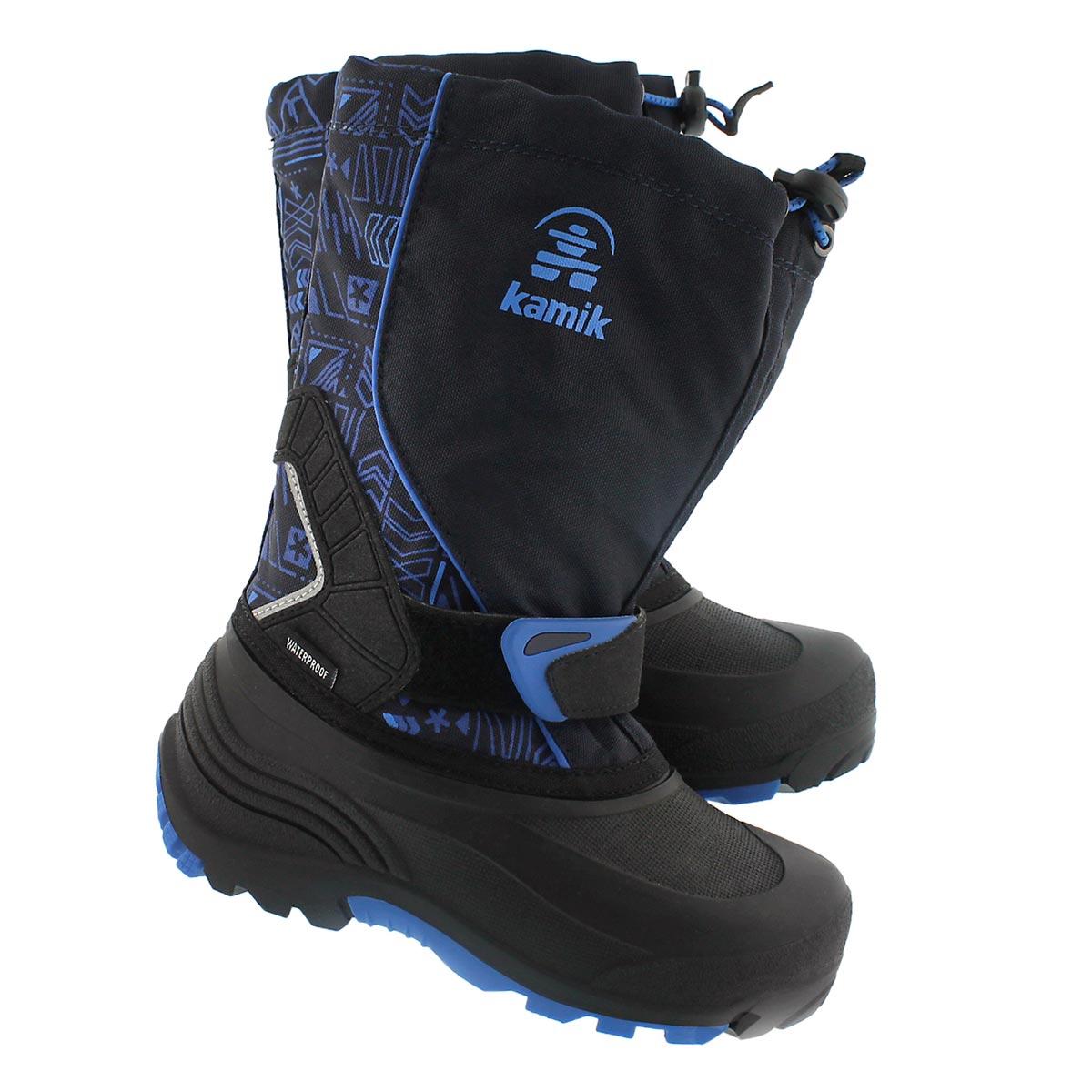 Bys Sleet2 navy pull on winter boot