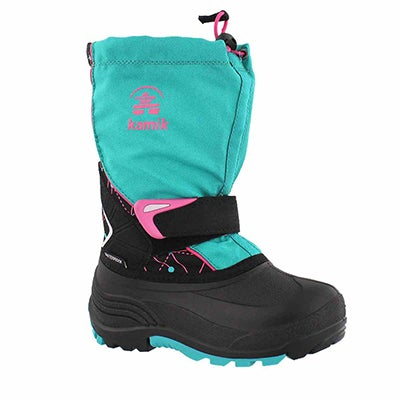 Grls Sleet 2 teal pull on winter boot