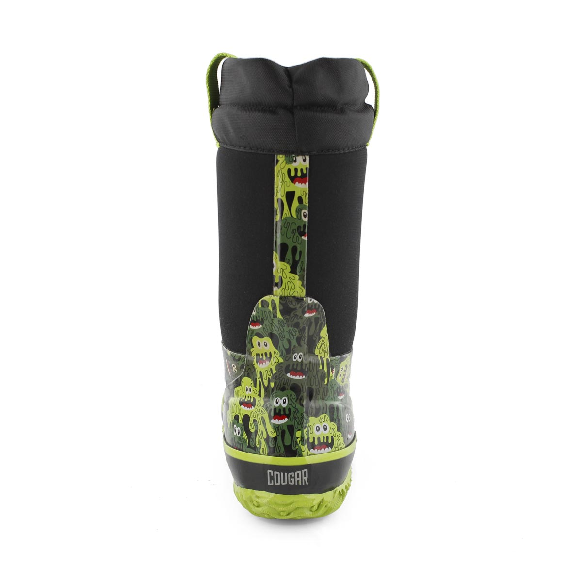 Bys Slimer blk wtpf pull on winter boot