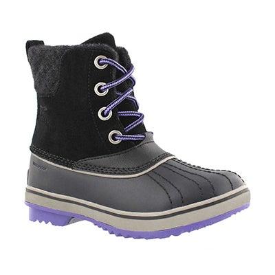 Grls Slimpack II Lace blk wtpf boot