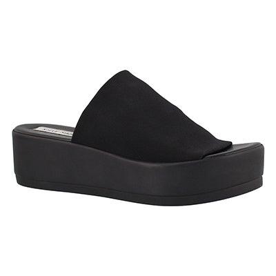 Sandale compensée Slinky, noir, fem