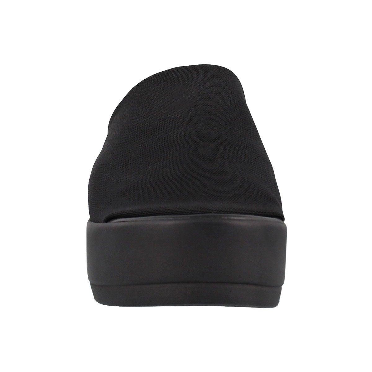 Lds Slinky black slide wedge sandal