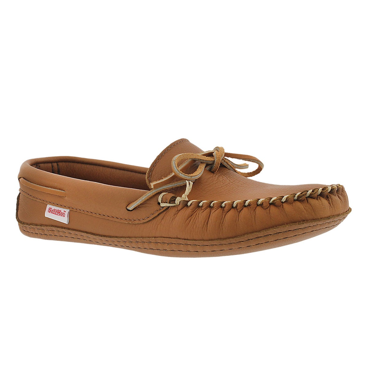 Men's 3000 camel deerskin leather moccasins