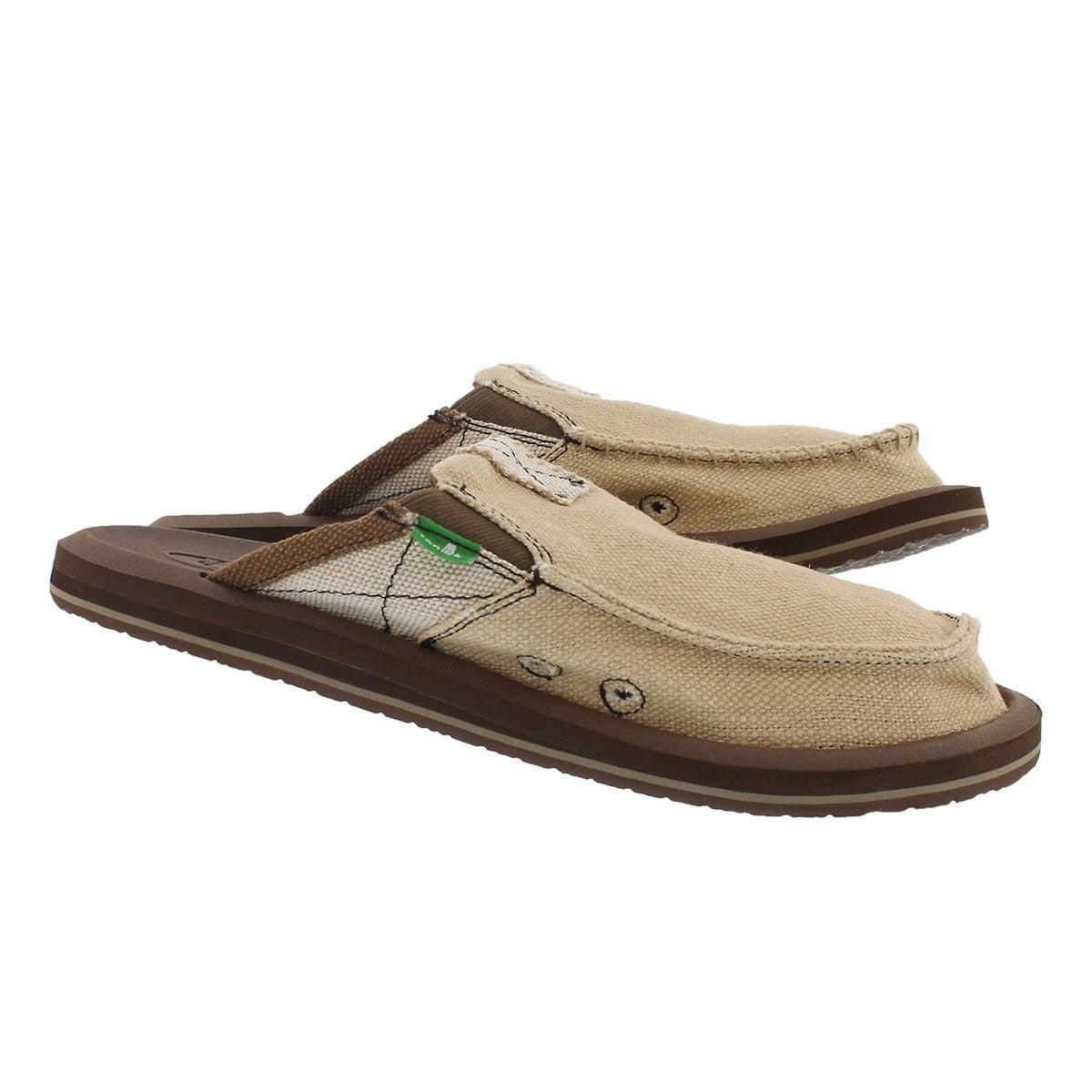Mns YouGotMyBackII tan open back shoe