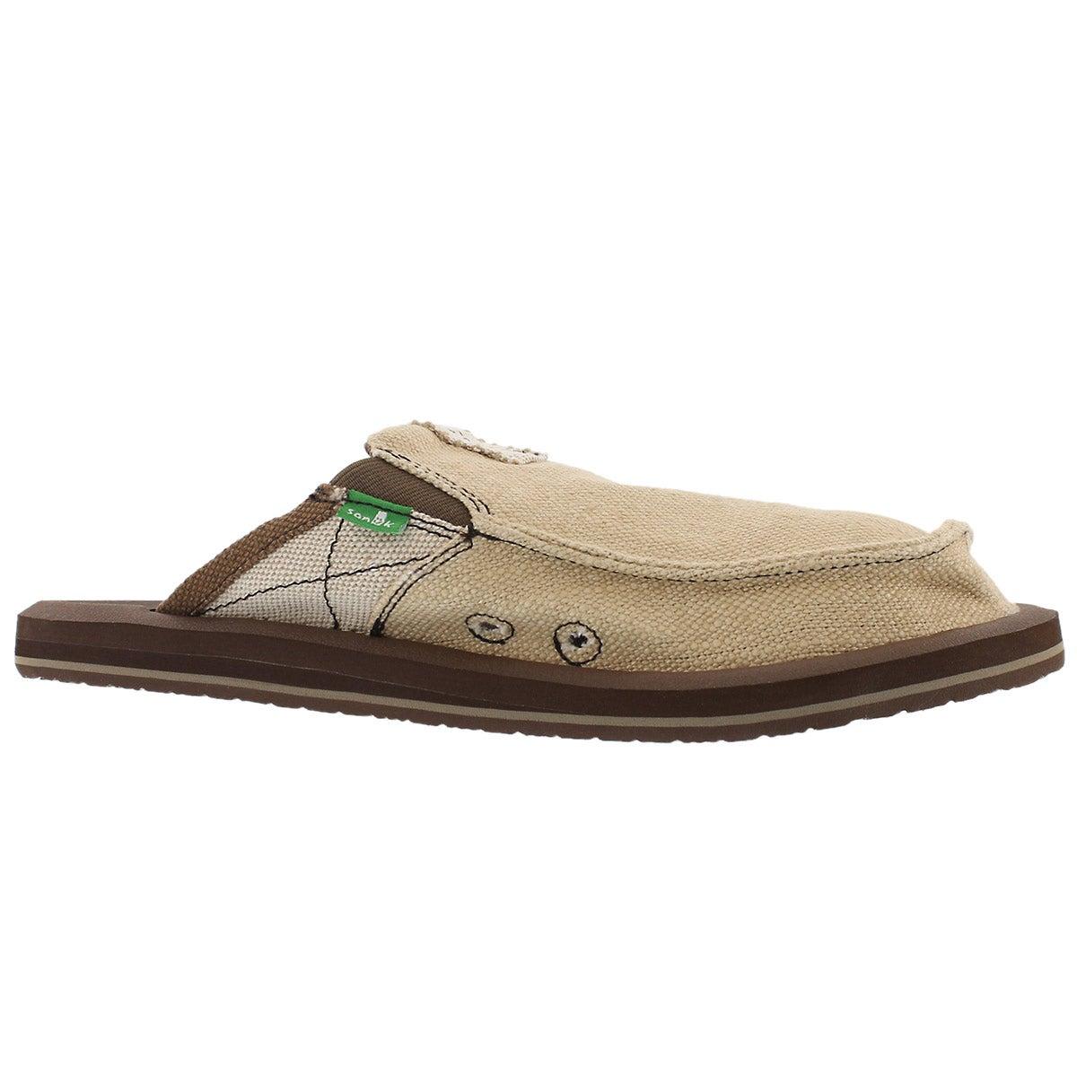 Men's YOU GOT MY BACK II tan open back shoes