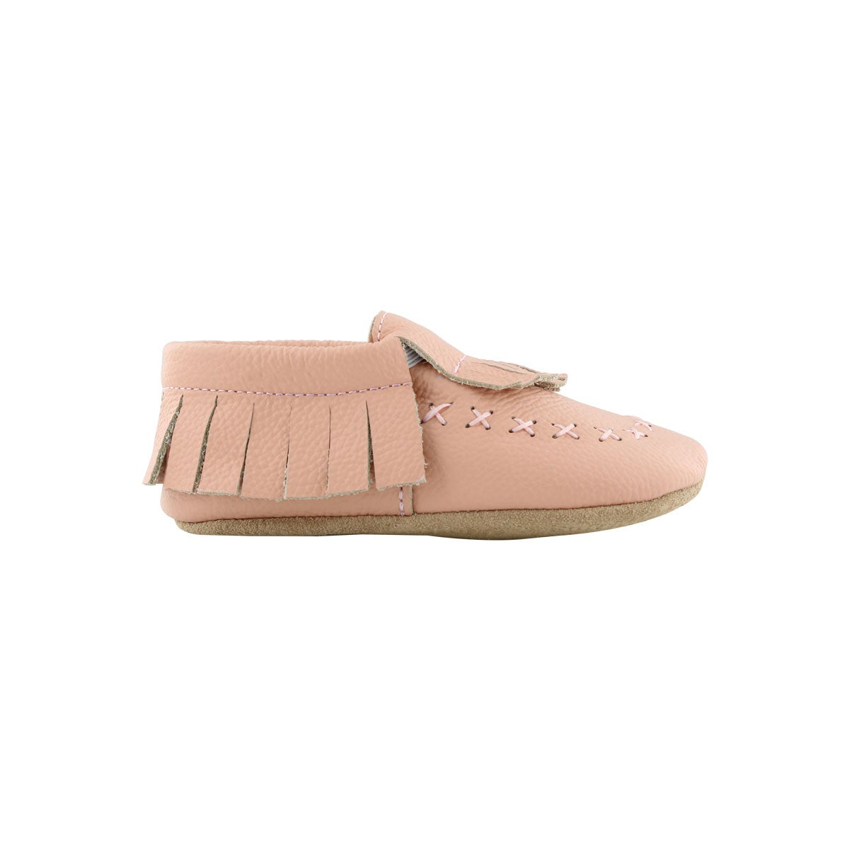 Infs-g Smoccey pnk slipper bootie