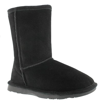 SoftMoc Women's SMOCS 4 black mid suede boots