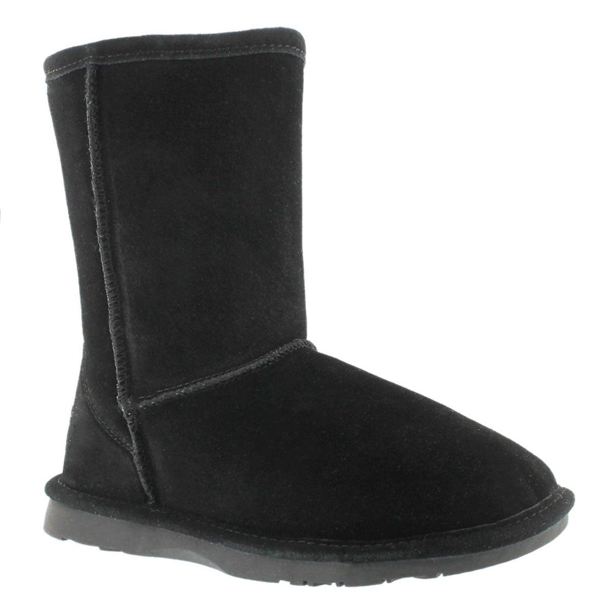 Lds Smocs 4 black mid suede boot