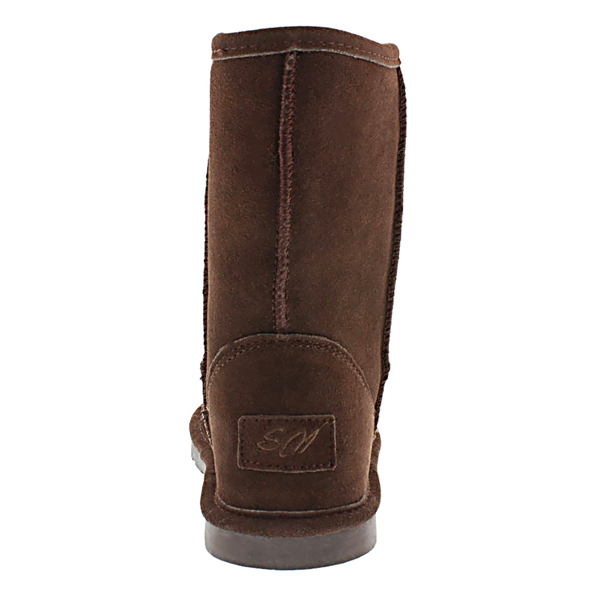 Lds Smocs 4 chocolate mid suede boot