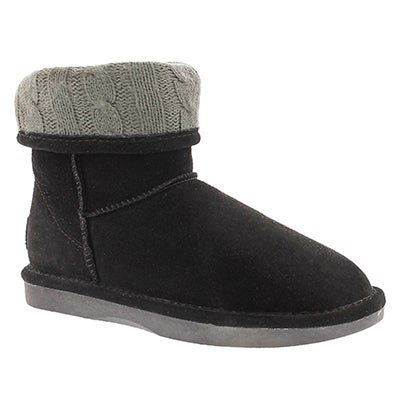 SoftMoc Women's SMOCS CUFF black suede boots