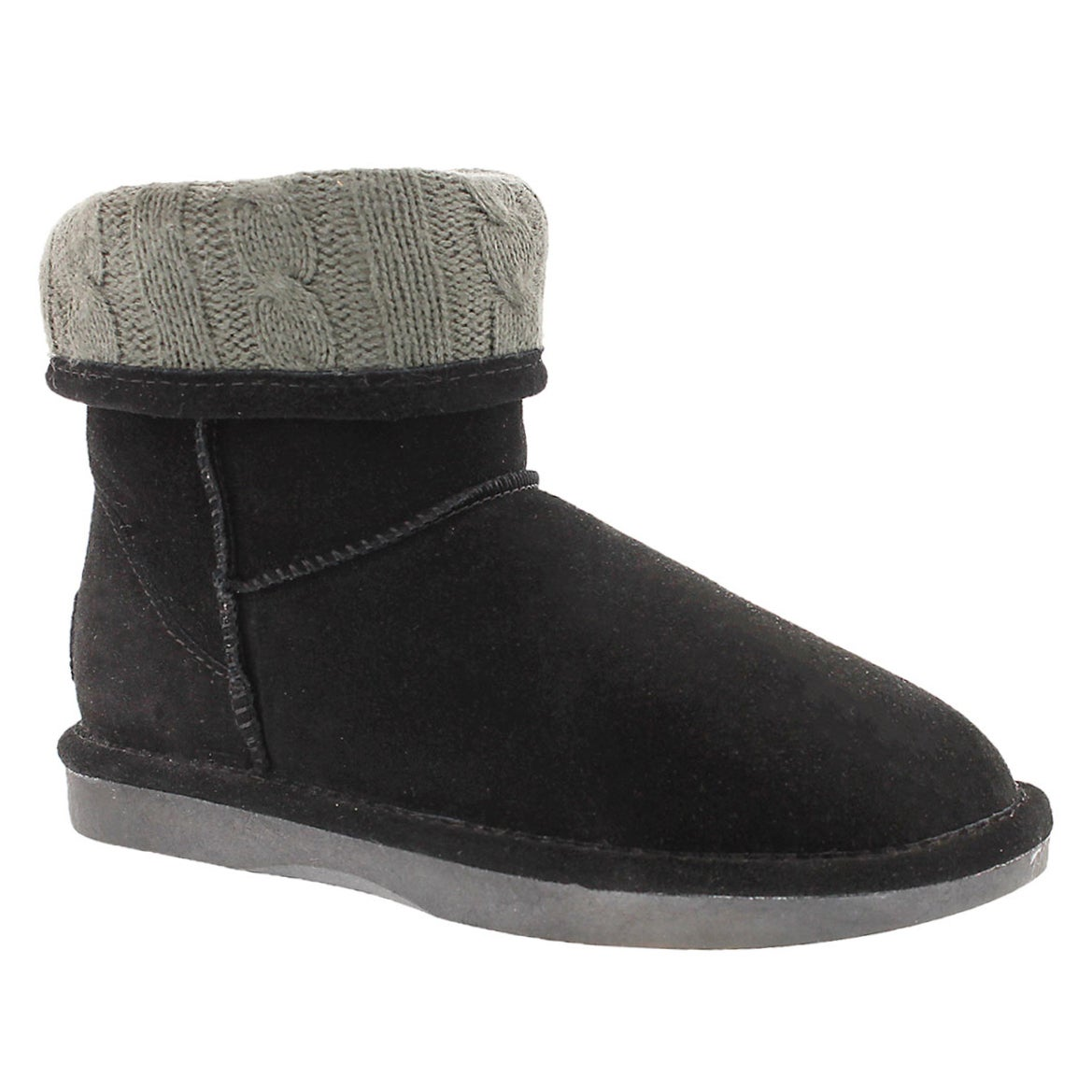 Lds Smocs Cuff black suede boot