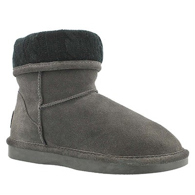 SoftMoc Women's SMOCS CUFF grey suede boots