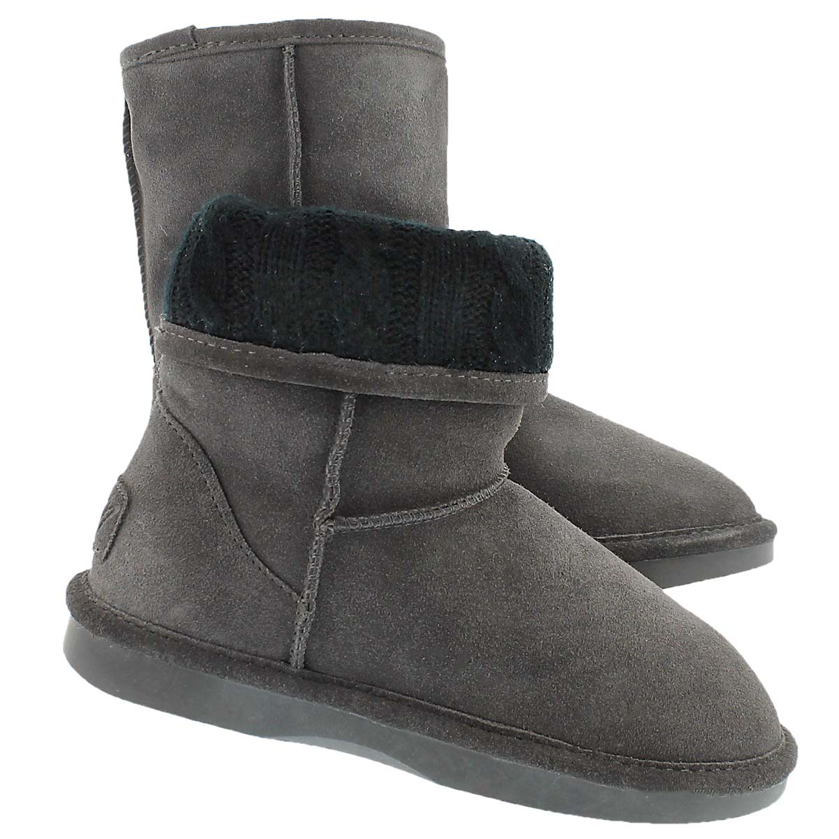 Lds Smocs Cuff grey suede boot
