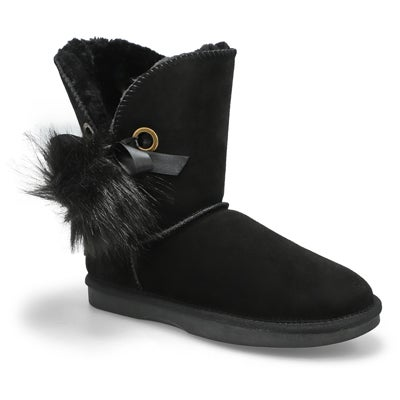 Lds Smocs Pom black suede boot