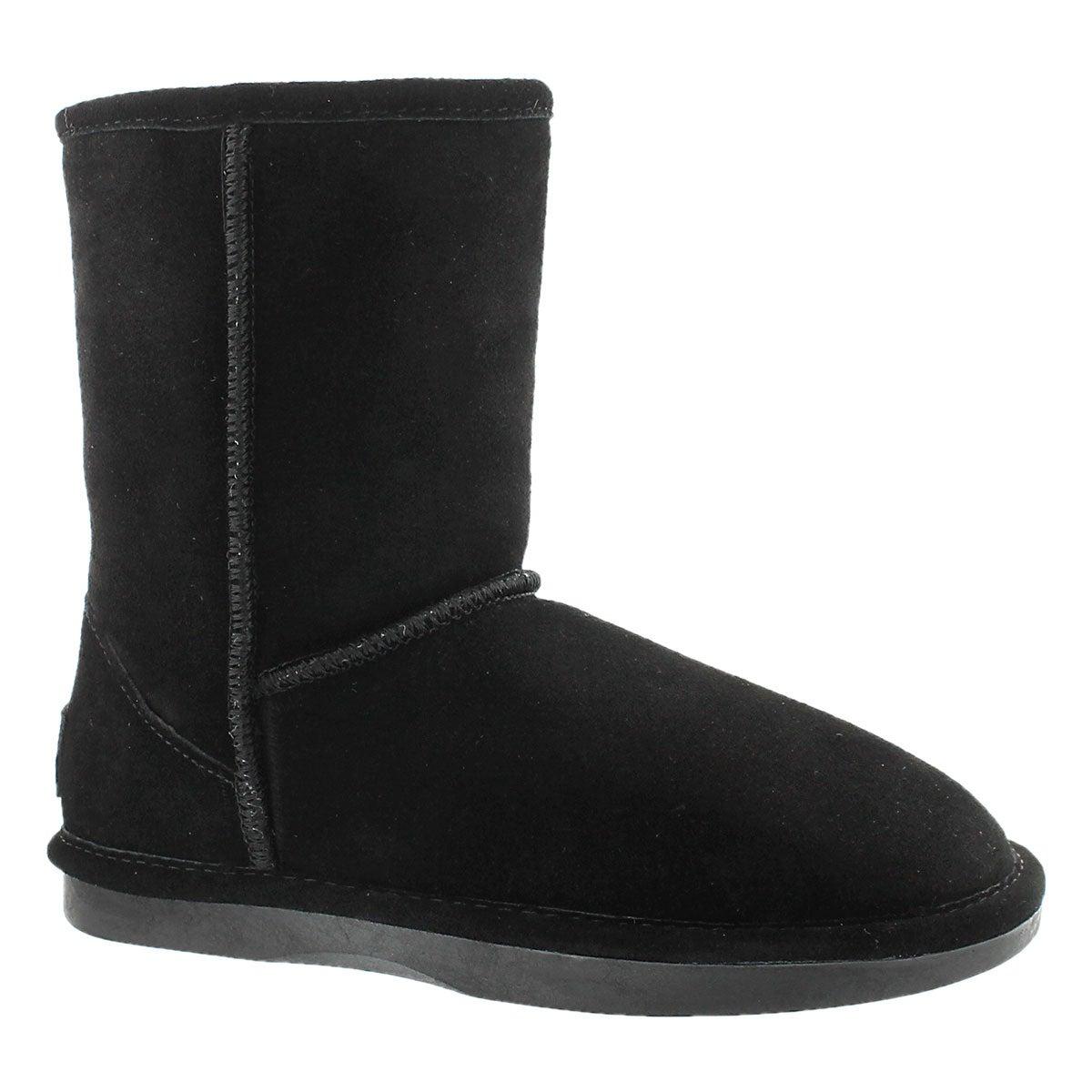 Lds Smocs Zip black suede boot