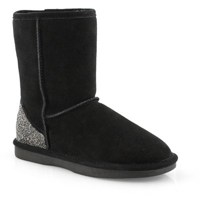 Lds Smocs 5 Bling black suede boot