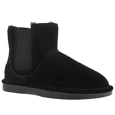 SoftMoc Women's SMOCS 5 black chelsea suede boots