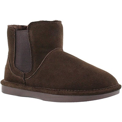 SoftMoc Women's SMOCS 5 chocolate chelsea suede boots