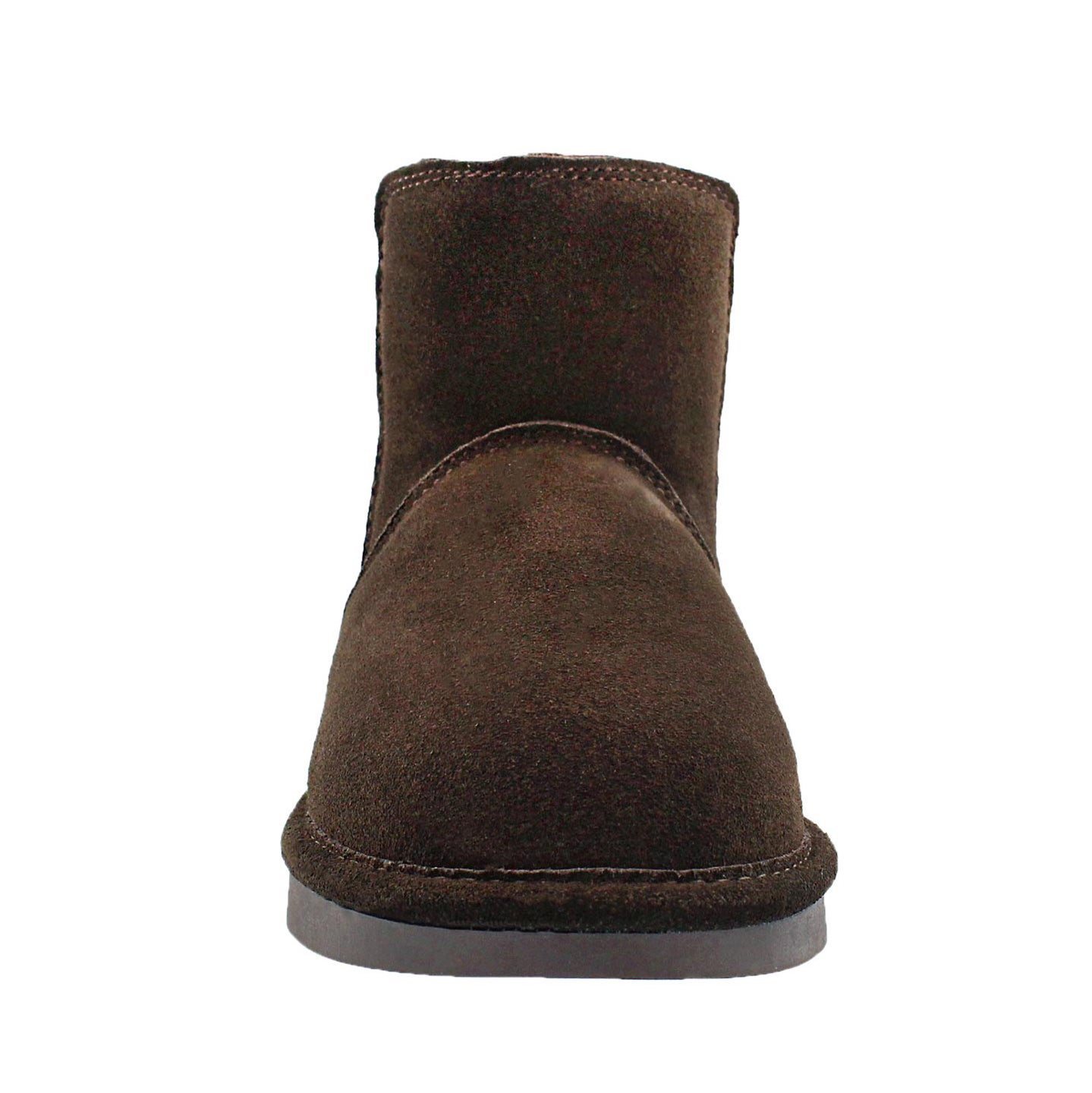 Lds Smocs 5 choc chelsea suede boot