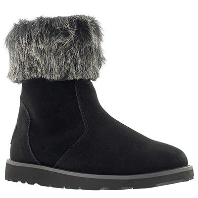 SoftMoc Women's SMOCS 5 FUR black suede boots
