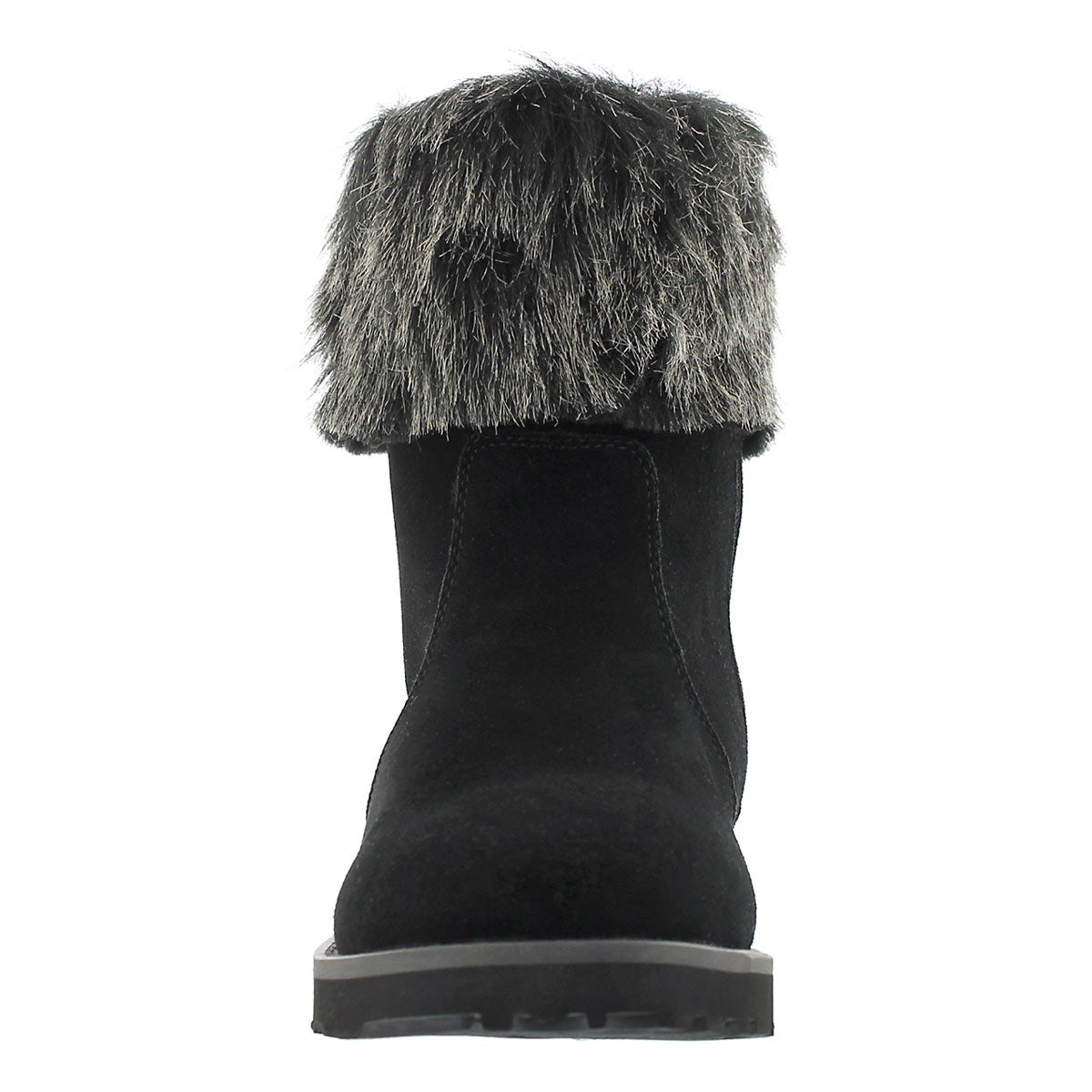 Lds Smocs 5 Fur black suede boot