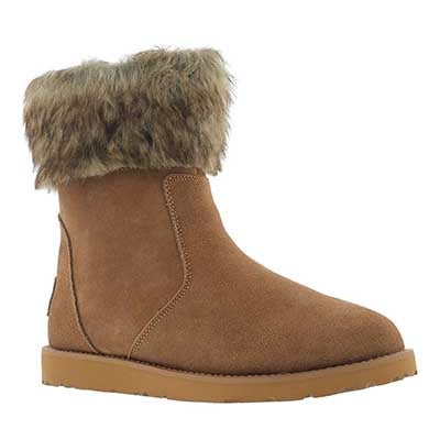 SoftMoc Women's SMOCS 5 FUR sand suede boots