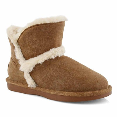 Lds Smocs 5 Fur Trim Lo ches suede boot