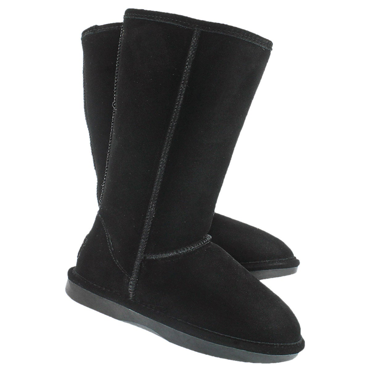 Lds Smocs 5 black tall suede boot