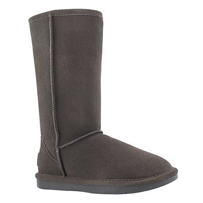 Lds Smocs 5 grey tall suede boot