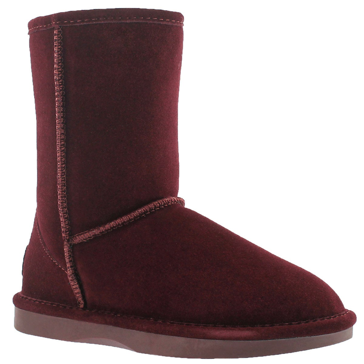 Women's SMOCS 5  burgundy mid suede boots