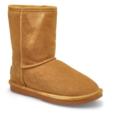 Lds Smocs 5 chesnut mid suede boot