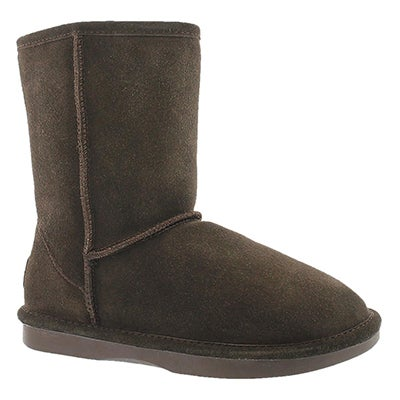 Lds Smocs 5 chocolate mid suede boot