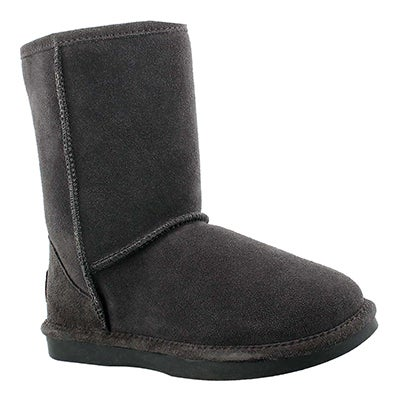 Lds Smocs 5 grey mid suede boot
