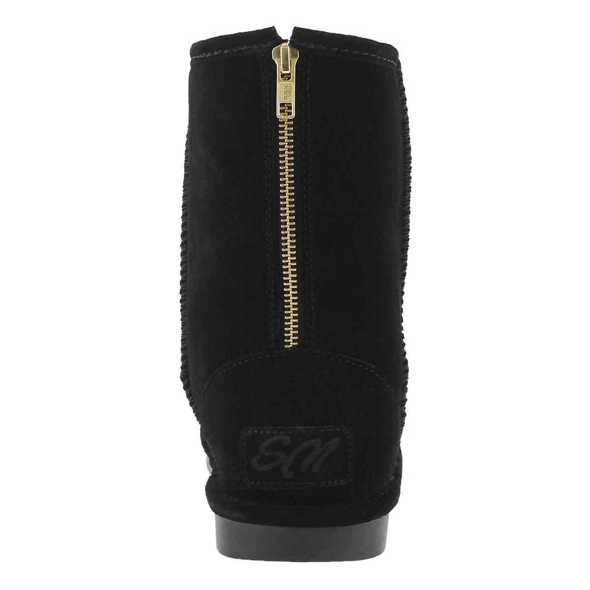 Lds Smocs 5 Zip black suede boot