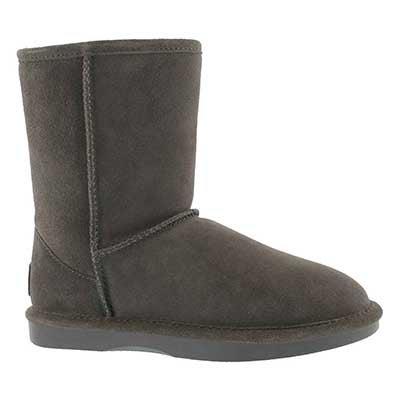 Lds Smocs 5 Zip grey suede boot