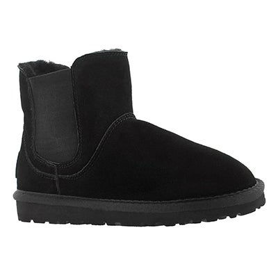SoftMoc Girls' SMOCS 5 black chelsea suede boots