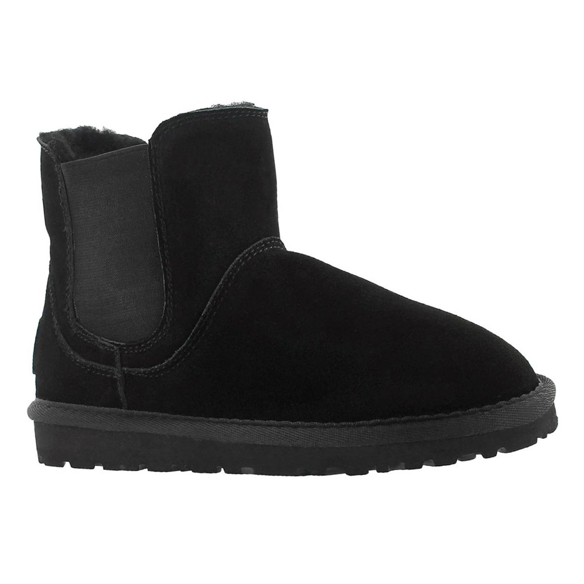 Girls' SMOCS 5 black chelsea suede boots
