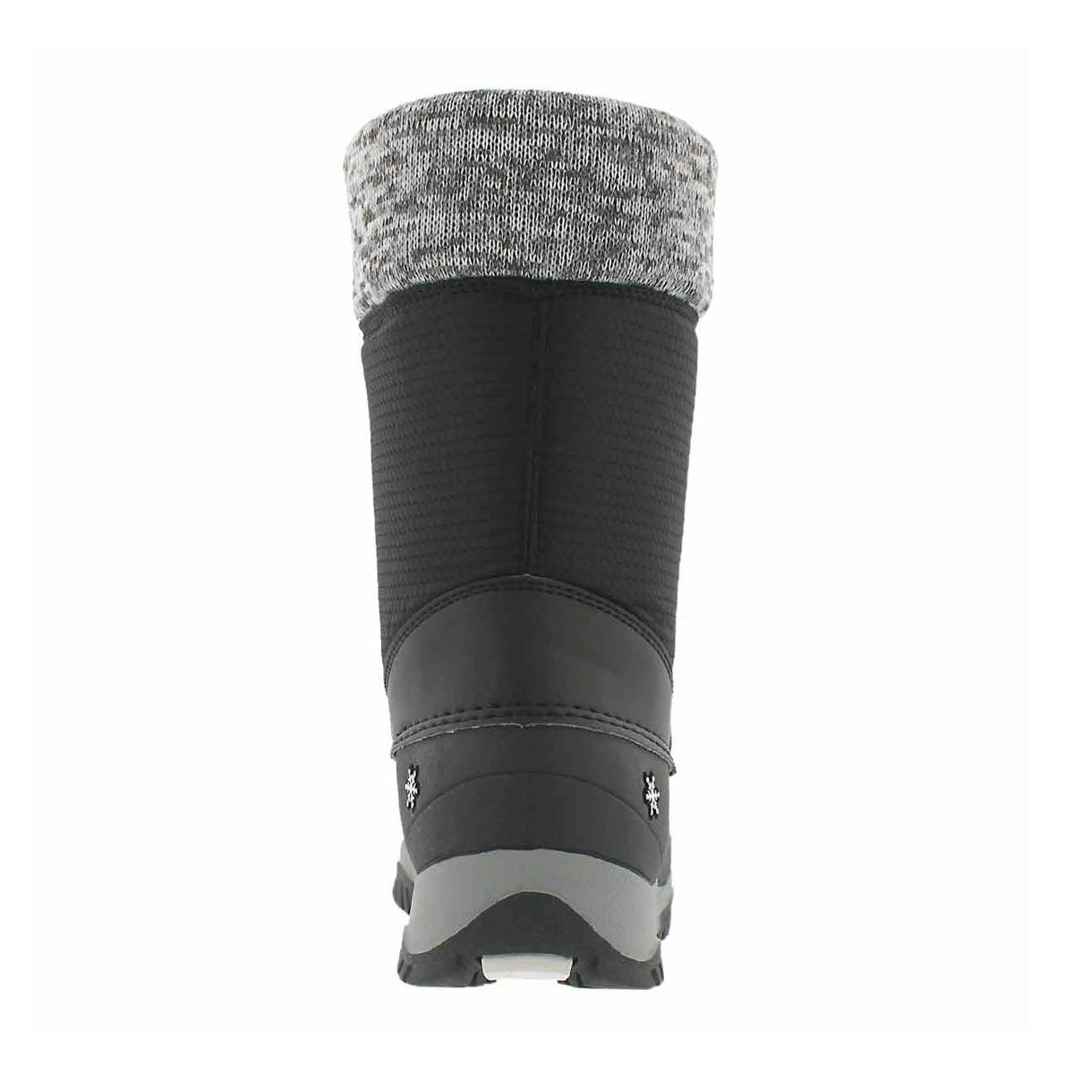 Grls Avery black wtpf winter boot