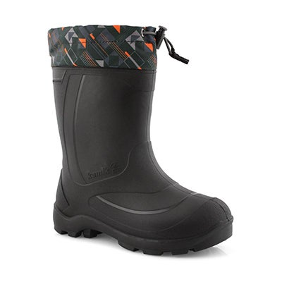 Kds Snobuster 2 blk/cha wp winter boot