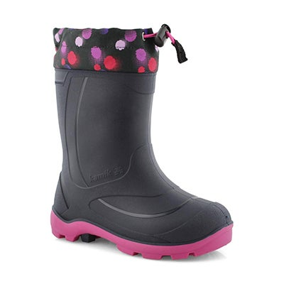 Grls Snobuster 2 nvy/mag wp winter boot