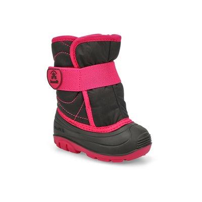 Inf-g Snowbug3 blk/mgta wtpf winter boot