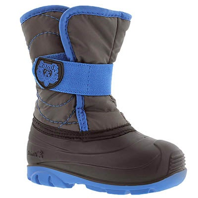 Kamik Infants' SNOWBUG3 charcoal/blue winter boots