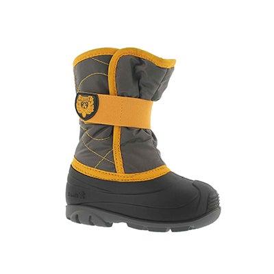 Inf-b Snowbug3 char/ylw wtpf winter boot