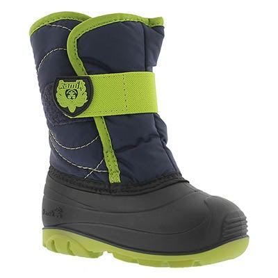 Kamik Infants' SNOWBUG3 navy/lime winter boots