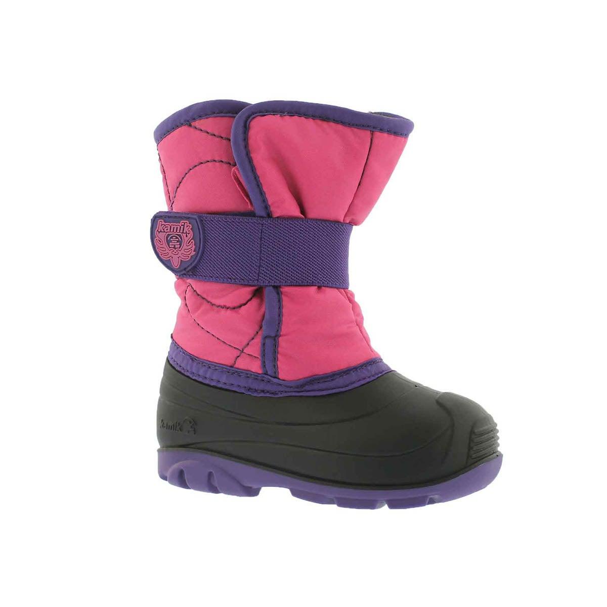 Infants' SNOWBUG 3 pink waterproof winter boots