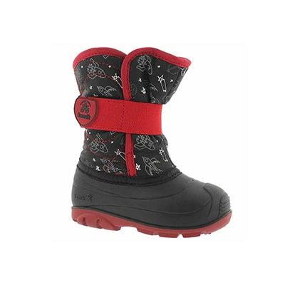 Inf-b Snowbug4 black wtpf winter boot