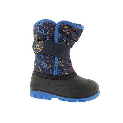 Inf-b Snowbug4 navy wtpf winter boot